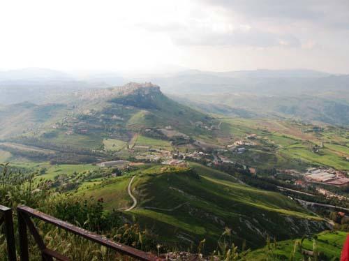 Enna Sicht vom Belvedere